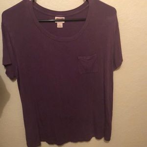 Purple loose fitting T-shirt